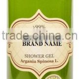 Body Shower Gel With Argan Oil, 100% Natural and Bio - 300 ml. Private Label Available. Made in EU