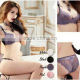 High quality lace bra for ladies, Lace Sexy Bra And Panties, Transparent Lace Sexy Net Bra Sets