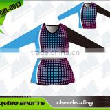 Wholesale customized sublimation youth cheerleading uniforms sleeveless new designs /OEM sexy cheerleading dresses