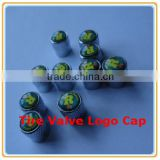 Hot Sale Logo Brass Tire Valve Caps/Wheel Stem Air Valve Caps/Snap-in Tubeless Tire Valve Caps