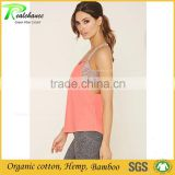 Bamboo cotton relable back yoga tank top for women yoga swear