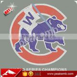 Baseball Team Chicago Cubs World Series Iron On Rhinestone Transfers Wholesale