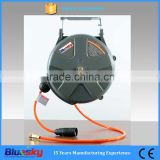 Garden auto retractable/rewind plastic 10m/15m/20m/30m hose reel, rewind wall-mounting water