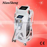 Sapphire crystal ipl handle SHR Elight Hair Removal Machine For back / bikini hair removal