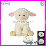 A053 Soft Cartoon Animal Sheep Stuffed Toy Plush Animals with Custom Music