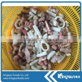 Frozen seafood mix with mussel squid ring squid tentacle crab stick exporter
