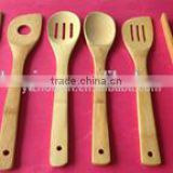 Bamboo Dinner Set Kitchen Cooking Utensils 4 Bamboo Spoons And Spatula Set For Serving And Cooking Tools