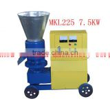 MKL225 reducer gear box roller driven flat wood pellet press for US family use 220v 60hz available in E-motor