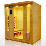 steam shower room wooden sauna