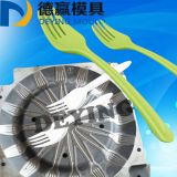 China mould company make plastic injection Disposable tableware fork mold 2017 plastic injection mould for cutlery fork