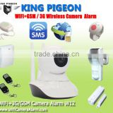 The Most Popular Unique Innovation Wireless Wifi+GSM/3G Camera Alarm with Wifi and GSM/3G