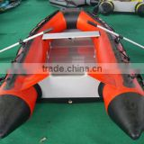 QingDao Airbeother pvc material aluminium floor high speed inflatable fishing boat