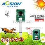 Aosion Powerful Solar Battery Powered Ultrasonic Outdoor Animal & Pest Repeller - Motion Activated