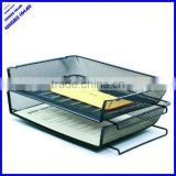 2 tier office metal mesh desk office letter tray