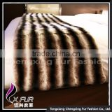 CX-D-128A Luxury Genuine Rex Rabbit Fur Throw Blanket Sofa Throw