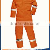 high vis orange women with work coverall reflective tape waterproof paint workwear Fireman rescue team flame retardant coverall
