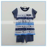 Children kids clothes set, polyester fabric fashion boys clothing set, custom full print t-shirt with short pants set