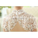 Custom made White 2016 lace with Appliques Bead Tank Bridal Wedding Bolero Jacket Wedding Lace Shrug Cape Shawl
