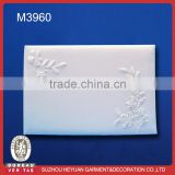 M3960 wholesale white Satin Wedding guest book with pen wedding supply wedding signiture book set
