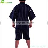 Men blue Stripe japanese style boys Costume Pajamas china pyjamas manufacturers men's pajamas print robe kimono GVXF0005