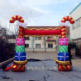 Christmas Inflatable Candy Arch for Outdoor Decoration