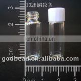 WB 01 wholesale 10*28mm Glass bottle wishing bottle! clear glass tiny wishing bottle vials pendants with corks