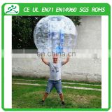 Factory price CE TPU/PVC jugar bumper ball bubble football,bounce ball