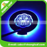 Wholesale flashing led light drinking coaster