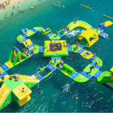 Custom 0.9MM PVC Material Open Sea Water Sports Park,Inflatable Water Obstacle Park For Sale