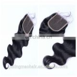 Virgin Brazilian hair body wave cheap human hair lace closure free parting lace closure