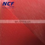 1000D/9x3 Fluorescent Red PVC Coated Polyester Mesh With Welded Hem NPFA701 Flame Retardant