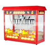 IS-POP6A-2 Commercial Double Commercial 2 Pot Deluxe Steel Pot Popcorn Machine