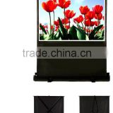 "80"" 4:3 Portable pull floor up projection screen"