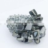 Hematite Chip stone Stretch Seed Glass beads Ring