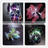 led fiber various color butterfly fariy battery powered christmas lights for christmas ornament, funny decoration