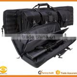 "36 Double Rifle Case - 36"" Padded Long Gun Case & Rifle Storage Backpack With Molle Pouches, Integrated Pistol Cases"