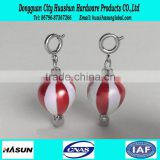 Wholesale fashionable plastic fire balloon keychain with good price