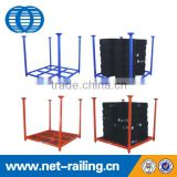 Warehouse folding portable steel storage stacking tire rack