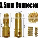 Gold Tone Metal Banana Plug Male Female Banana Bullet Connector