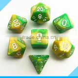 High quality Acrylic polyhedral dnd dice game set with mixing colours                                                                         Quality Choice