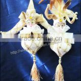 Pastoral home accessories gossamer craft ornaments christmas gift couple doll hanging feet hanging feet onion