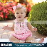 2016 boutique baby clothing rose flower cotton baby romper floral newborn baby girls jumpsuit