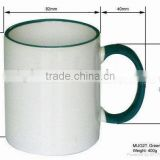 11oz two tone coated sublimation Mug for cup heat press transfer machine