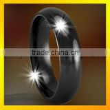 Black tungsten rings cheap jewelry rings for men