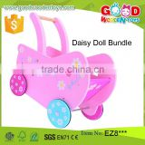high quality lovely baby stroller girl game Mini Wood Doll Pram                                                                         Quality Choice