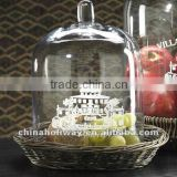 Firenze Glass Bell Jar, Cake Glass Dome, Small Size