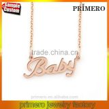 "Custom Name, Gold Chain Necklace "" BABY "" Stainless Steel Women Personalized Letters Necklace"