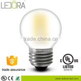 CCT 2200K 2500K 2700K 3000K 4000K type led G45 filament bulb 25000hrs longer life span frosted led bulb