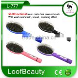 Multifunctional wash one's hair massor brush With wash one's hair,knead, combing effect 1 AA dry battery