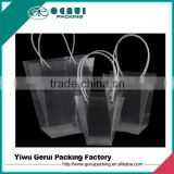 trapezoid transparent pp gift bag,pp shopping bag,pp promotion bag